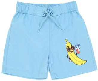 Mini Rodini Banana Print Nylon Swim Shorts