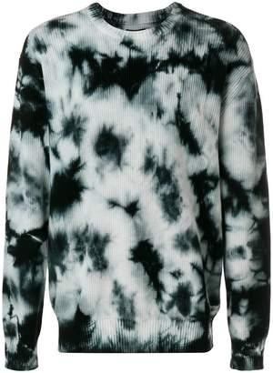 Stussy tie-dye ribbed jumper