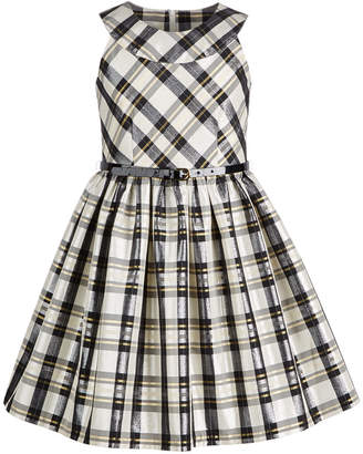 Bonnie Jean Big Girls Metallic Plaid Dress