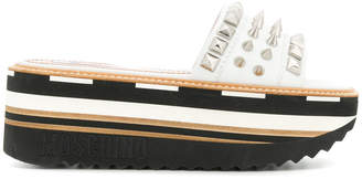 Moschino studded platform mules