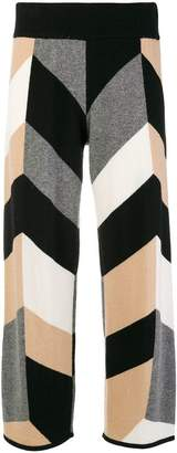 Parker Chinti & geometric pattern cropped trousers