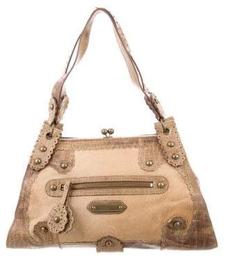 Isabella Fiore Embossed Leather Ponyhair Tote