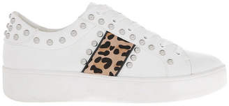 Steve Madden Belle White Leopard Sneaker