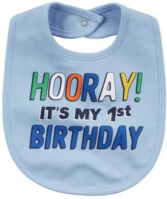 "Carter's Baby Boy ""Hooray! It's My 1st Birthday"" Graphic Bib"