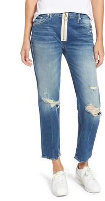 Mother XYZ Saint High Waist Crop Straight Leg Jeans