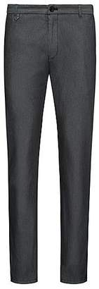 HUGO BOSS Extra-slim-fit trousers in two-tone stretch gabardine