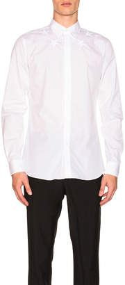 Givenchy Collar Star Shirt in White | FWRD