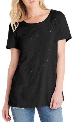 Women's Michael Stars Distressed Hemp & Cotton Tee $88 thestylecure.com
