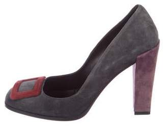Roger Vivier Suede Buckle Pumps
