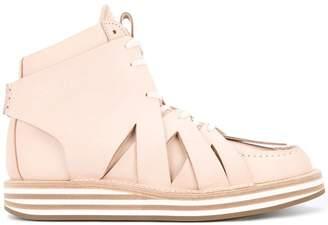 Hender Scheme crisscross detail sneakers