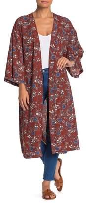 ALL IN FAVOR Long Printed Kimono