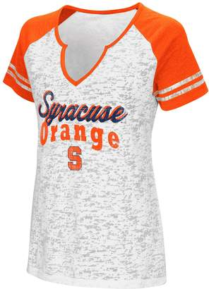 NCAA Women's Campus Heritage Syracuse Orange Notch-Neck Raglan Tee