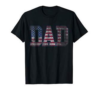 DAY Birger et Mikkelsen Mens Patriotic American Flag Dad Father's T Shirt