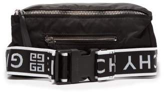Givenchy Pandora Logo Strap Technical Belt Bag - Mens - Black White
