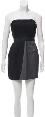 Jay Ahr Pleated Wool Dress
