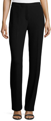 Elie Tahari Leena Slim Stretch-Knit Pants, Black $298 thestylecure.com