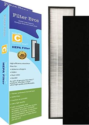 Germ Guardian FLT5000 True HEPA Replacement Filter C for GermGuardian AC5000 Home Air Cleaner Purifiers