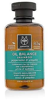 Apivita NEW Oil Balance Shampoo with Peppermint & Propolis (For Oily Hair) 250ml