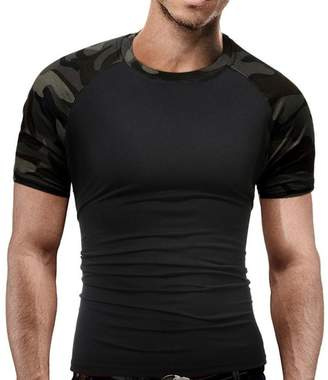 Teresamoon Slim Fit T Shirts, Mens Camouflage O-Neck Soft Short Sleeves Tees (, XL)