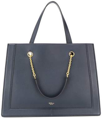 Mulberry pebbled texture tote