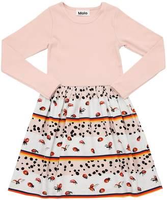 Molo Ladybugs Rib Jersey & Interlock Dress
