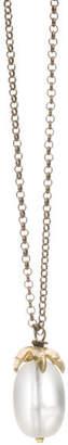 By / Natalie Frigo Small Claw Lucite Necklace
