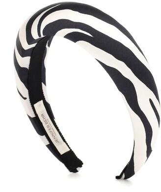 Jennifer Behr Thada zebra-print silk headband