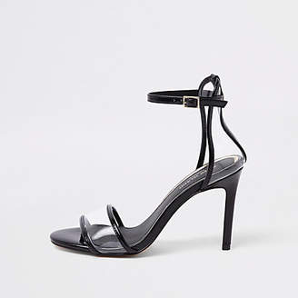 River Island Womens Black perspex barely there sandals