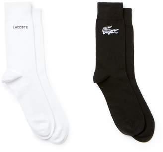 Lacoste Men's Print Jersey Socks 2PK