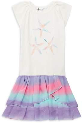 Pl Kids Little Girl's 2-Piece Top & Ruffle Tiered Skirt Set