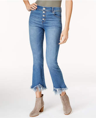 INC International Concepts I.n.c. Fringe-Trim Curvy Cropped Jeans, Created for Macy's