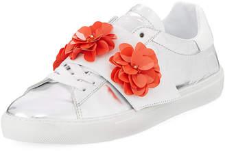 D.A.T.E Newman Flower-Strap Sneakers