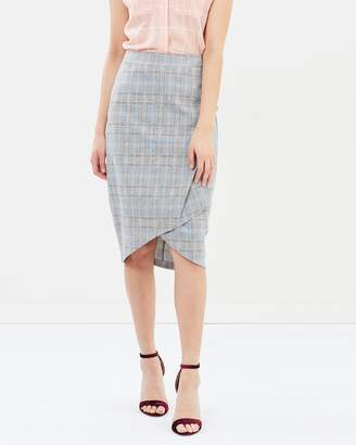 Oasis Check Workwear Skirt