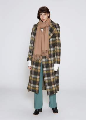TOGA Archives Mohair Check Long Coat