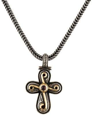Konstantino Tourmaline Cross Pendant Necklace