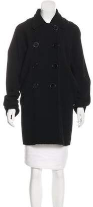 Zero Maria Cornejo Oversize Double-Breasted Wool Coat