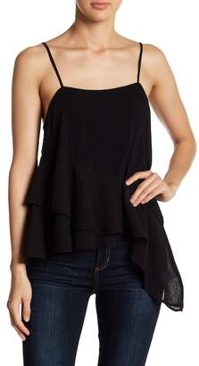 Young Fabulous & Broke YFB by Albany Tiered Ruffle Hem Tank