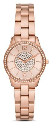 Michael Kors Petite Runway Rose Gold-Tone Watch, 28mm