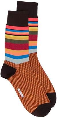 Missoni striped logo socks