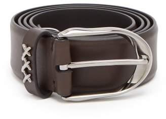 Ermenegildo Zegna Leather Belt - Mens - Brown