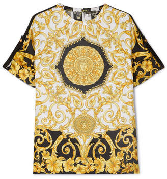 8f32a8c9245 Versace Printed Silk-twill Top - Yellow