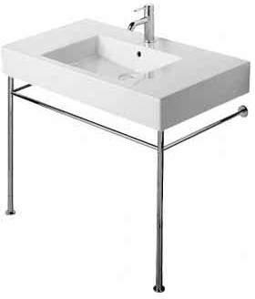 "Vero Moda Duravit Vero Ceramic 34"" Console Bathroom Sink with Overflow"