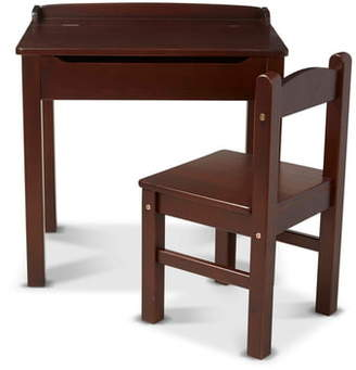 Melissa & Doug Wooden Lift Top Desk & Chair Set