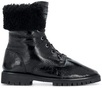 Philipp Plein varnished lace-up boots