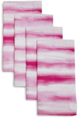 Sur La Table Pink Watercolor Striped Napkins