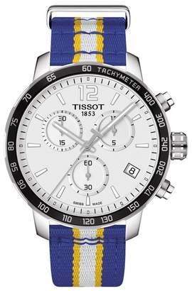 Tissot Men's NBA Golden State Quickster Chronograph Swiss Quartz Watch, 42mm
