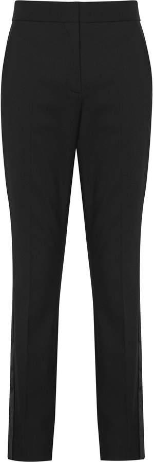 Naiya Trousers - Tuxedo Trousers in Black