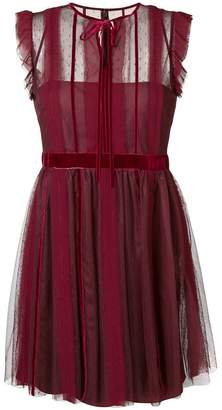 RED Valentino sleveless striped toile dress