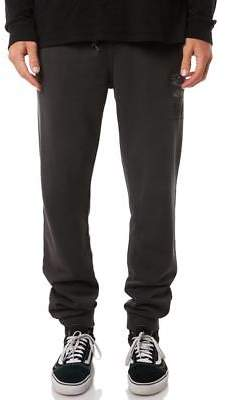 Rip Curl New Men's Heavy Search Mens Trackpant Cotton Polyester Black