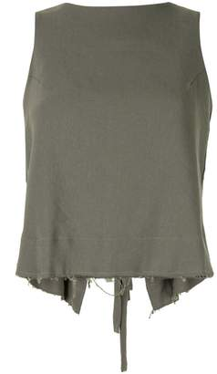 Song For The Mute two-way tassel detail top